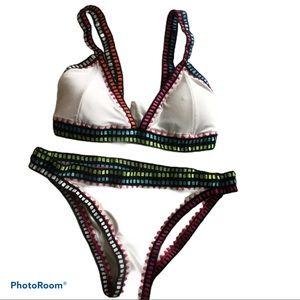 Crochet trim bikini